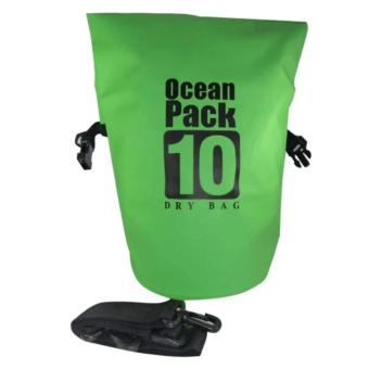 Ocean Pack Waterproof Floating Dry Bag 10L ideal for Outdoor Sports(Green)
