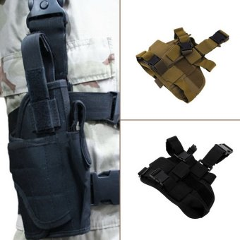 OH Practical Airsoft Military Tactical Drop Leg Thigh Holster Pouch Black - Intl - 4