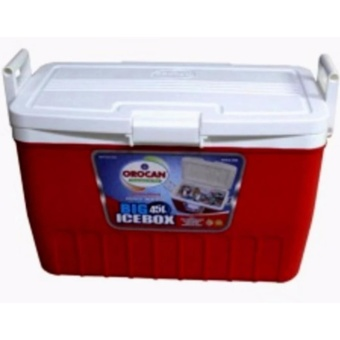Orocan Ice Box Chest Insulated Cooler 45-Liters (Red)