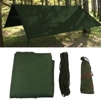 Outdoor Portable Lightweight Waterproof Rain Tarp Fly Tent Tarp Shelter (Green) - intl