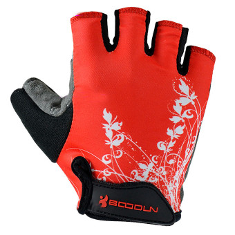 Outdoor Sports Bike Bicycle Cycling Biking Half Finger Gloves L Red - picture 2