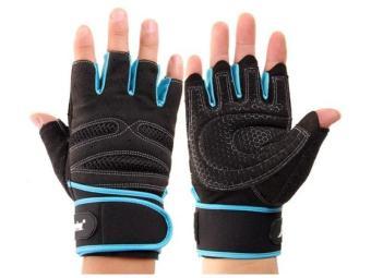 Pair Extened Wrist Wrap Fingerless Gloves Workout Fitness Weight Lifting XL