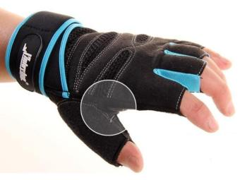 Pair Extened Wrist Wrap Fingerless Gloves Workout Fitness Weight Lifting XL - picture 2