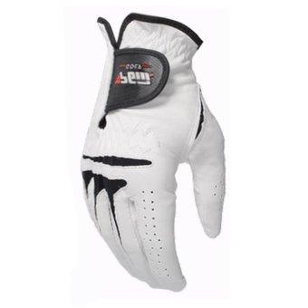PGM Men's Golf Gloves Slip Breathable Sheepskin Gloves (White) - 2