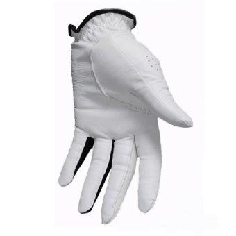 PGM Men's Golf Gloves Slip Breathable Sheepskin Gloves (White) - 4