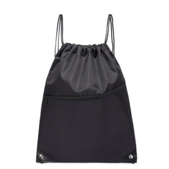 Polyester Nylon Drawstring Storage Bag Hiking Cycling Sports Backpack - intl