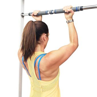 PopSky Indoor Pull-up Bar 62-105cm Indoor Fitness Door Portable Way Gym Bar Chin Up Bar for Home-Blue - intl - 3