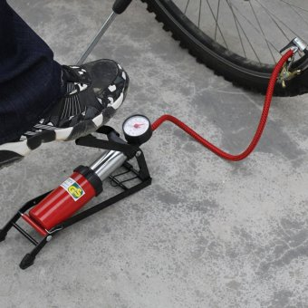 Portable 100 PSI Vehicle Tire Inflates Foot Air Pump for CarMotorcycle Bicycle Balls - intl
