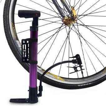 Portable Bicycle Air Pump (Violet)
