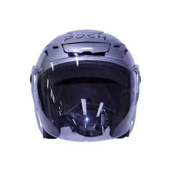 Posh Open Face Titan 5 Motorcycle Helmet (Plain Silver)