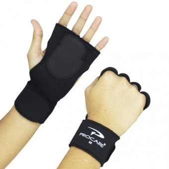 PROCARE PROTECT #1011 Weigh Lifting Gloves with Wrist Support 4mmThick Neoprene, Unisex Pair (Black)