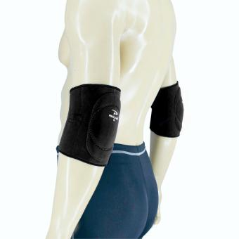 PROCARE PROTECT #4011P Elbow Support Padded, Close Elbow Slip-On4mm Neoprene PAIR SIZE-LARGE (Black)