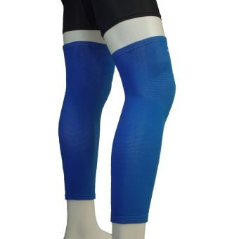 PROCARE PROTECT #6044AB Leg Sleeves 17-inch, Thigh Knee ShinSupport, Elastic 4-way Spandex Seamless PAIR (Blue) - 2