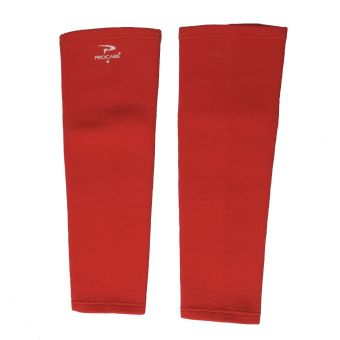 PROCARE PROTECT #6044UR Leg Sleeves 17-inch, Thigh Knee ShinSupport, Elastic 4-way Spandex Seamless PAIR (Red) - 4