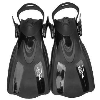 Professional Adjustable Swim Fins Snorkeling Foot Flipper Diving Equipment for Adult (Black L) - intl - 2