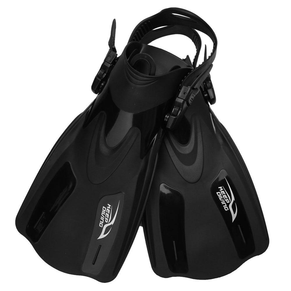 ... Professional Adjustable Swim Fins Snorkeling Foot Flipper Diving Equipment for Adult (Black L) ...