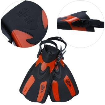 Professional Adjustable Swim Fins Snorkeling Foot Flipper Diving Equipment for Adult (Black L) - intl - 5