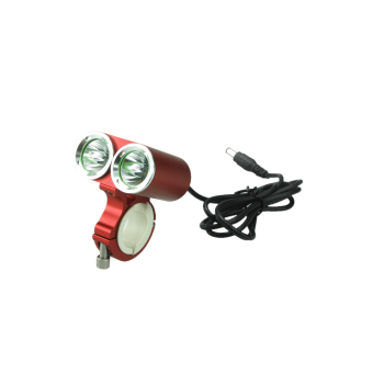 Professional Dark Knight K2E 2-LED USA CREE XML-T6 2400LM Bicycle Light & Headlight - Red (4 x 18650)