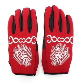 QEPAE Cycling Full Finger Gloves Bike Bicycle Red M (Intl)