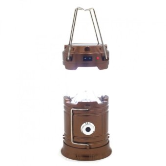 Rechargeable SH-5800T Solar Camping Lantern Emergency LED LightBuilt-in Mobile Charger (Bronze)