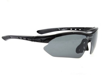 RockBros Polarized Sports Sunglasses (Black) - 2