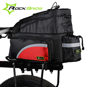 RockBros Waterproof MTB Road Bike Bag Bicycle Accessories Outdoor Travel Cycling Bicycle Rear Seat Trunk Bag Pannier + Rain Cover, 4 Colors