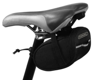 ROSWHEEL 13567-A Mountain Road Bike Bicycle Bag Cycling Saddle Seat Compact Padded Tail Bag Pack (Black)