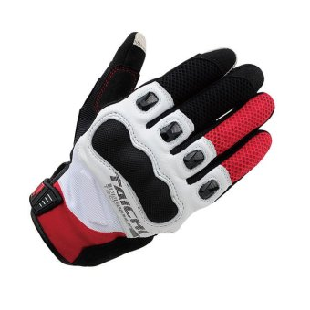 RS-TAICHI RST412 Winter Warm Waterproof Windproof Protective Gloves White/Red - Intl