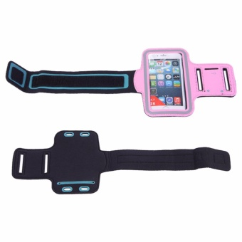 Running Arm Band Phone Case Holder Pouch For 5.5 InchUniversal(Orange) - intl - 2