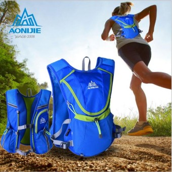 Running Cycling Vest Backpack Sports Camping Hydration Water Bladder Bag Blue