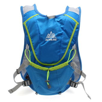 Running Cycling Vest Backpack Sports Camping Hydration Water Bladder Bag Blue - 2