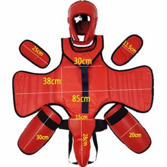 Sanda Sets of Protective Gear Taekwondo Boxing Supplies(Black-73-2.5) - 2