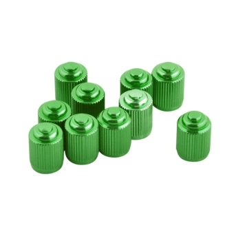 Schrader Aluminum Alloy Bike Tire Valve Caps, Pack of 2(Green) - picture 2