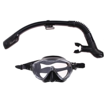 Silicone Diving Mask Anti-Fog Goggles Glasses + Snorkel BreathingTube Set - intl