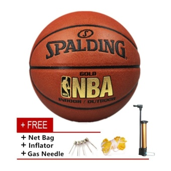 Spalding Basketball Size 7 PU Leather High Quality Professional Sport Equipment Basketball Ball - intl