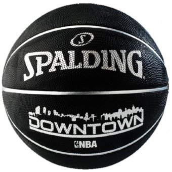 Spalding DOWNTOWN BLACK Outdoor Basketball Size 7