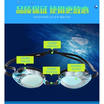 Speedo Swimming Goggles Waterproof Anti Fog Anti UV HD Lens Soft Framework Swim Glasses - intl - 4