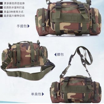 Sport Duffels Bags Camouflage Multi-functional 3P Magic Handbag Military Casual Sports Tactical Sling Bag Waist Bag with Many Pockets - intl - 4