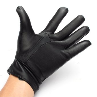 Sports Leather Gloves (Black) - 4