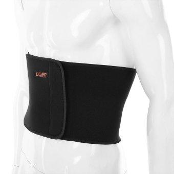 Sports Outdoors Exercise Bands Boer Sport Breathable AdjustableWaist Back Belt Support Lumbar Band Protective Gear(Black) - intl - 2