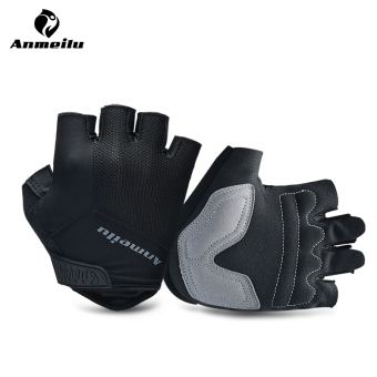 Spring and summer damping breathable half finger gloves riding gloves
