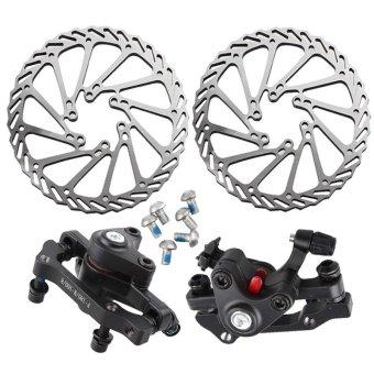 Stainless Steel Bicycle Disc Brake Set Kit Bike Rotor with Clipers Rear Wheel Brake F:180/ R:160 Front Wheel Brake F:160 R:140 - intl - 2