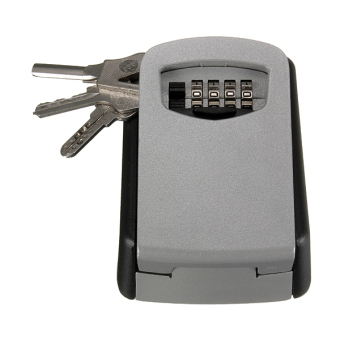 STEEL WALL MOUNT KEY BOX COMBINATION LOCK SAFE STORAGE KEY OUTSIDE SECURITY - 2