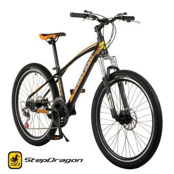 "Stepdragon SMS-3 26"" 21-Speed Mountain Bike Disc Brake (Matte Black/Orange)"
