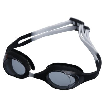 Summer Colorful Silicone Watertight Anti-Fog Children/Kids/Boys/Girls Swimming Goggles/Eyewear/Swim Glasses(Black and white) - Intl
