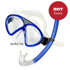 Super PVC Swimming Scuba Anti-Fog Goggles Mask Dive Diving Glassesw/ Dry Snorkel Set