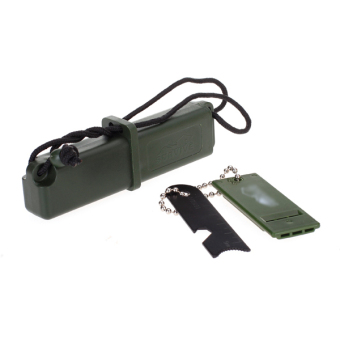 Survival Multi Tool Fire Starter Kit With Flint Scale Whistle Reflector