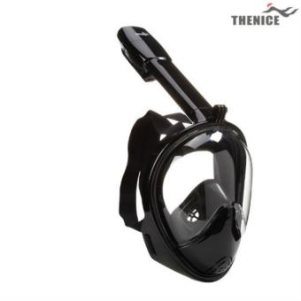 Thenice V2 Fullface Easybreath Snorkel Diving Mask S/M (BLACK) Price Philippines