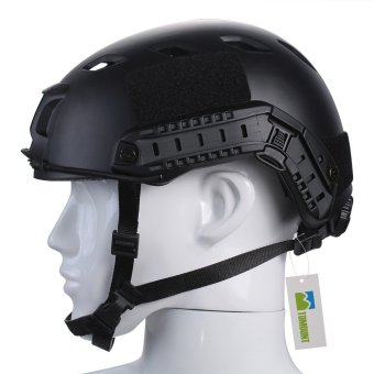 TOMOUNT Tactical Protective Helmet for Airsoft Paintball Combat ABS Black- Intl - 2