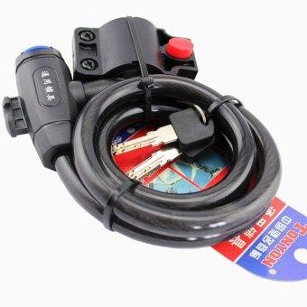 TONYON Anti-theft Steel Cable Bike Motorcycle Lock #0149 (Black) - 2